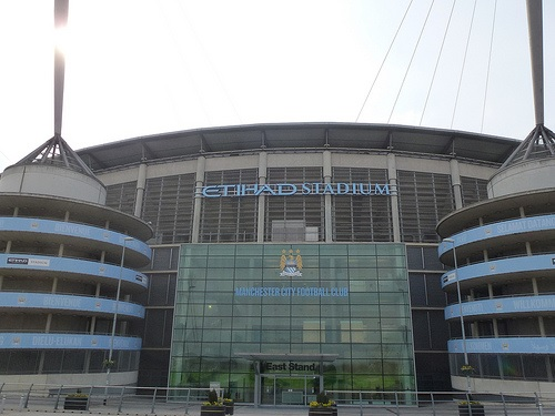 Etihad Stadium  is one of the top football grounds in the UK...